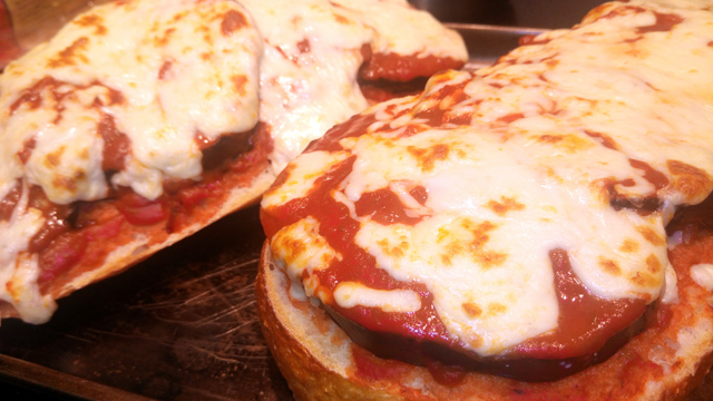 Eggplant Parmesan on French Loaf